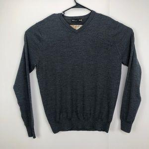 Under Armour Large Merino Wool V Neck Sweater Gray